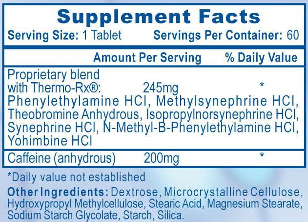 Fastin Diet Pills Supplement Facts