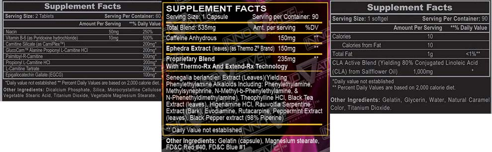 Hellfire Weight Loss Stack Supplement Facts