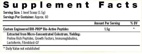 Bio Gro Supplement Facts