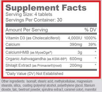 Halovar Supplement Facts
