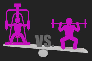 how to gain muscle free weights v machine