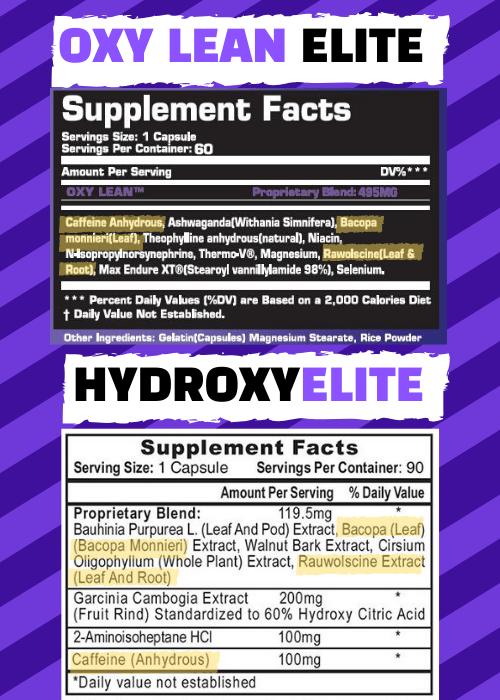 hydroxyelite vs oxy lean elite
