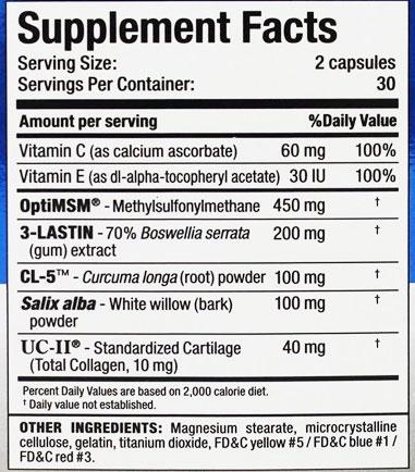 Allmax Allflex Supplement Facts