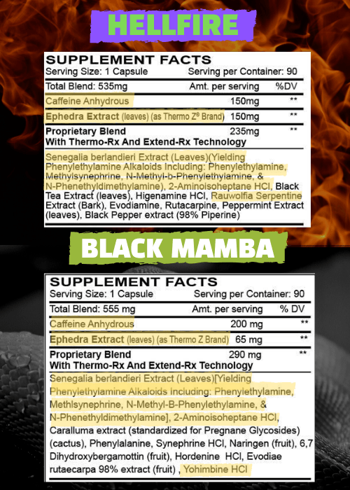 HELLFIRE VS BLACK MAMBA LABEL