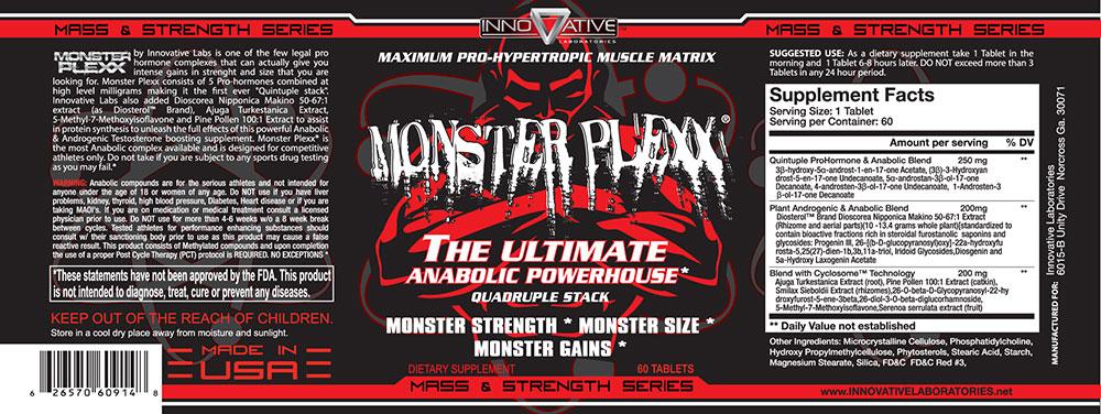 Monster Plexx Label