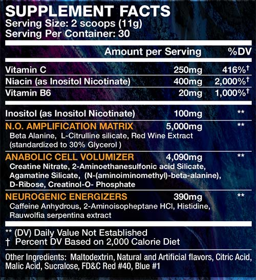 best Pre workouts wicked label