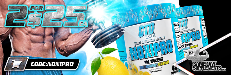 noxipro pre workout Deal banner