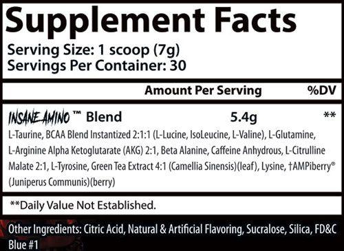 Insane Amino Hellboy Ingredients