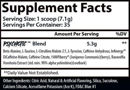 Psychotic Hellboy Ingredients