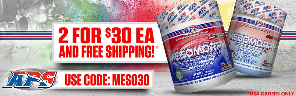 MESOMORPH pre workout Deal banner