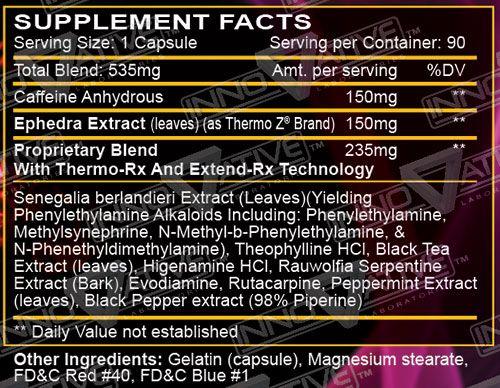 HellFire Fat Burner Supplement Facts