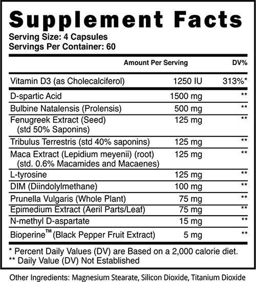 Apex Male Ingredients