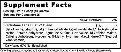 Dust v2 Ingredients