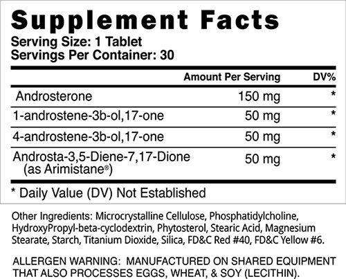 Metha Quad Extreme Ingredients