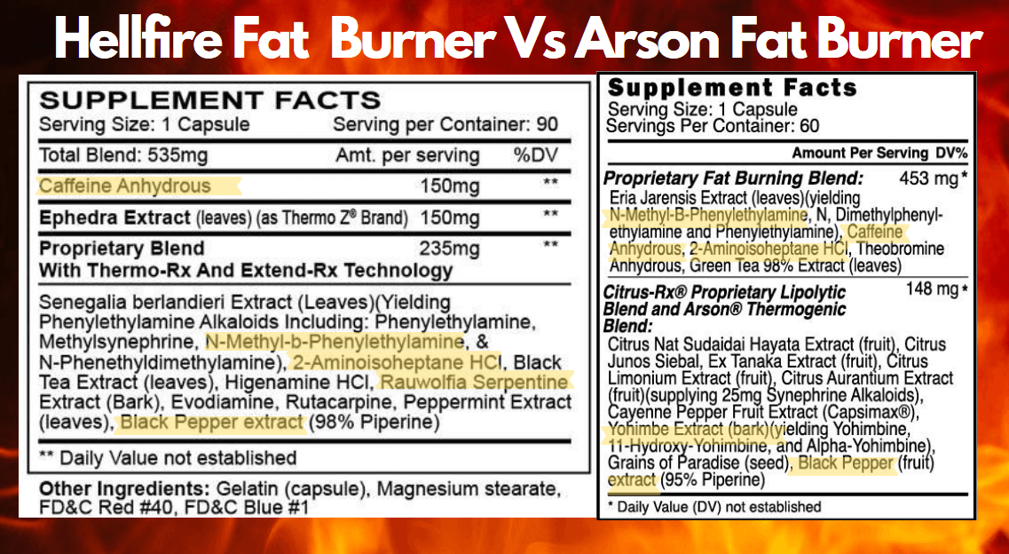 ingredients-Hellfire-Fat-Burner-Vs-Arson-Fat-Burner-