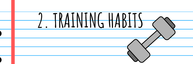 WEIGHT LOSS TRAINING HABITS