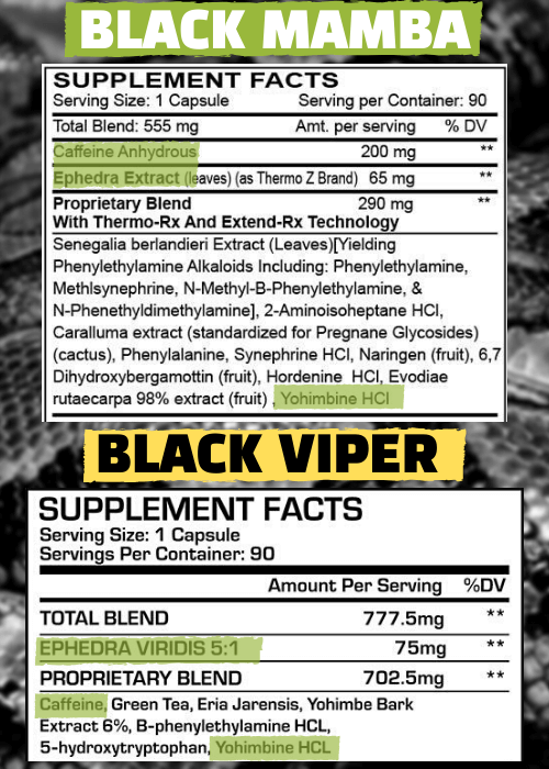 BLACK MAMBA AND BLACK VIPER LABEL