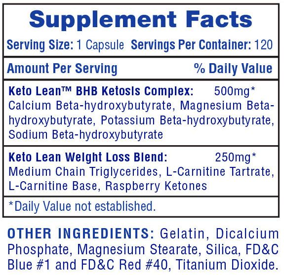 Keto Lean Ingredients