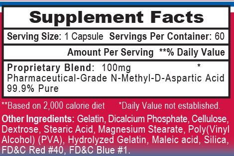 NMDA 100 Ingredients