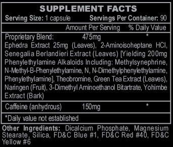 Stimerex Hardcore Ingredients