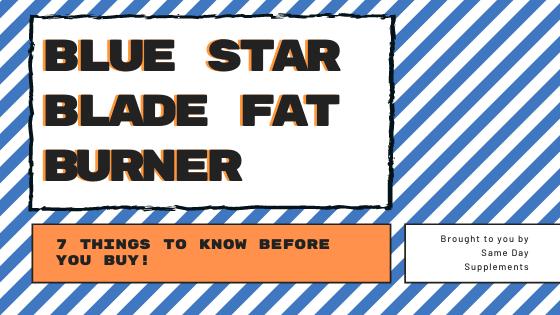 Blue Star Blade Fat Burner Banner