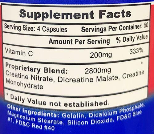 APS Creatine Nitrate Ingredients