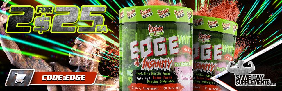 edge of insanity pre workout Deal banner