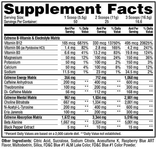 ESP Extreme Ingredients