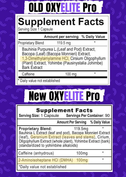 Oxyelite old vs new label