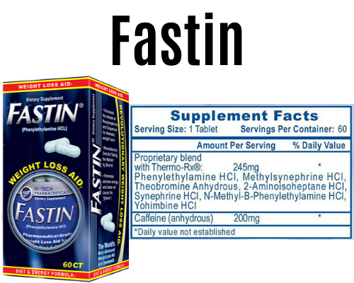 fastin product + Label