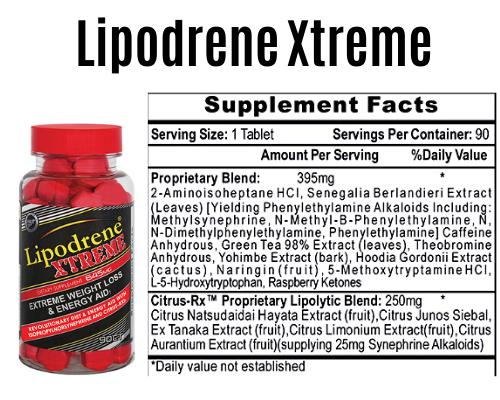 lipodrene xtreme product + Label