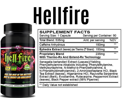 hellfire product + Label