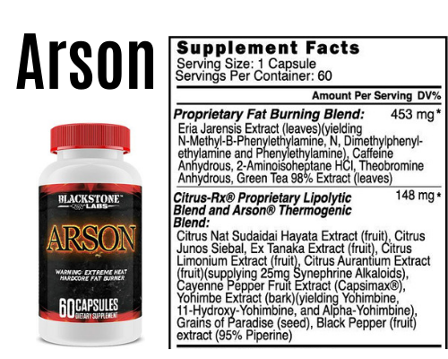 arson product + Label