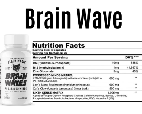 brain waves product + Label