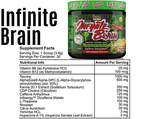 infinite brain product + Label