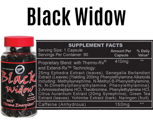 black widow product + Label
