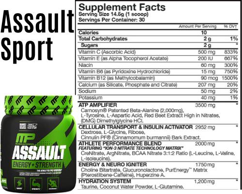 Assault sport top pre workout sf