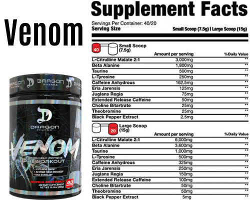 Venom supplement facts