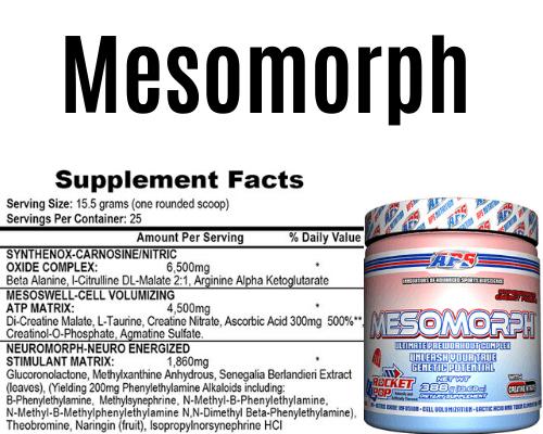 Mesomorph top pré treino