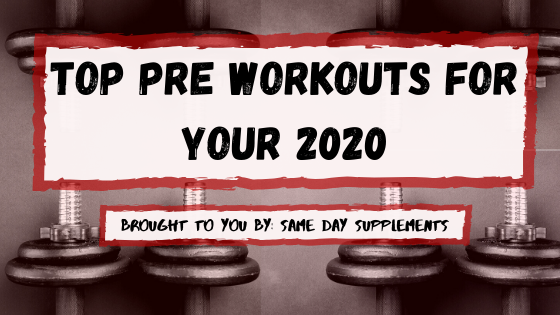 Best pre workout 2020 banner