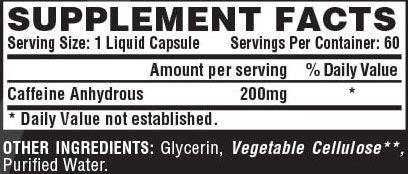 Nutrex Caffeine Supplement Facts