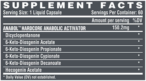 Anabol 5 Supplement Facts