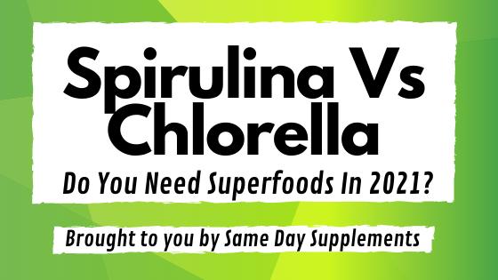 Spirulina VS Chlorella banner