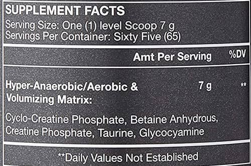 ALRI Cyclo Creation Supplement Facts