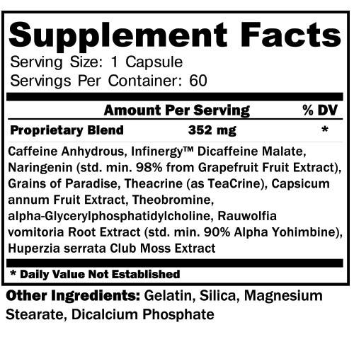 Hypercuts Supplement Facts