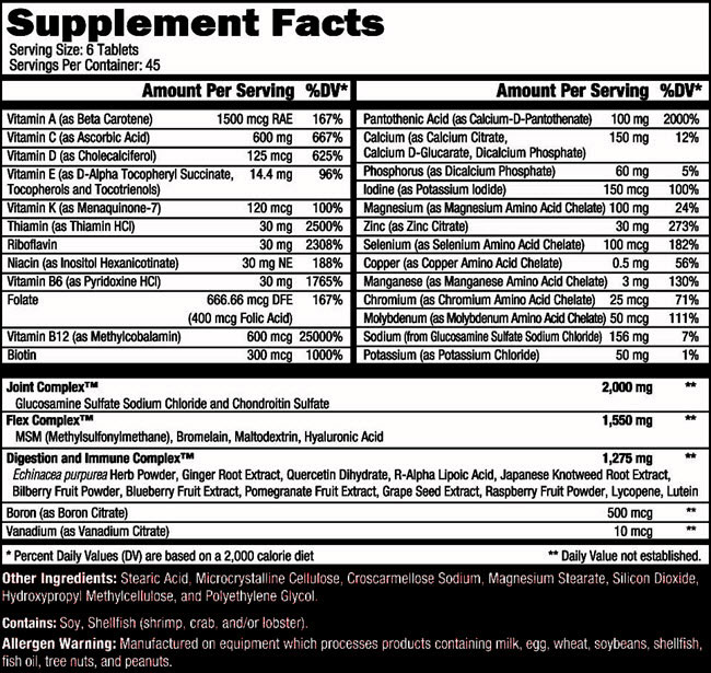 Orange Triad Supplement Facts