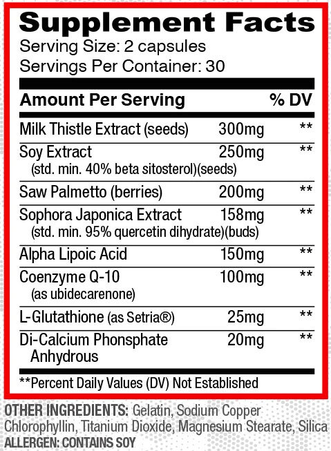 Organ Shield Supplement Facts