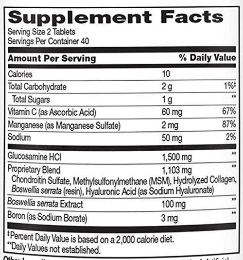 21ST Century Glucosamine Chondroitin Supplement Facts