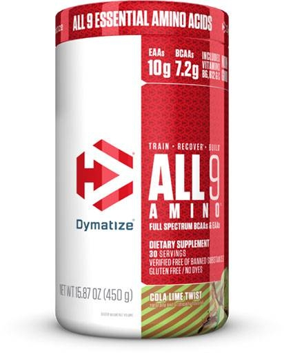 All 9 Amino By Dymatize, Cola Lime Twist, 30 Servings