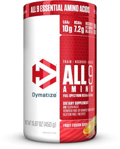 All 9 Amino By Dymatize, Fruit Fusion Rush, 30 Servings